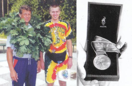 BC Šiauliai. 1996 m. Atlantos Olimpinių žaidynių bronzos medalių laimėtojas M.Žukauskas ir treneris A.Sireika.