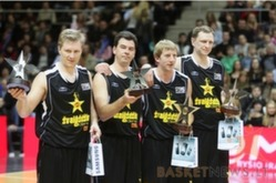 """BC Šiauliai. 2007-2008 m. LKL """"Žvaigždžių dienoje"""" 3 prieš 3 rungtį laimėjo """"Šiauliai""""."""