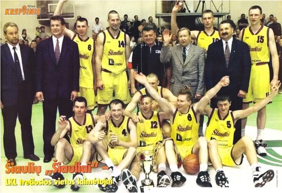 BC Šiauliai. 1999-2000 m. pirmoji LKL bronza.