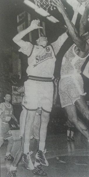 """BC Šiauliai. Iš """"Neptūno"""" pasiskolintas Eurelijus Žukauskas už """"Šiaulių"""" komandą sužaidė dvi rungtynes."""