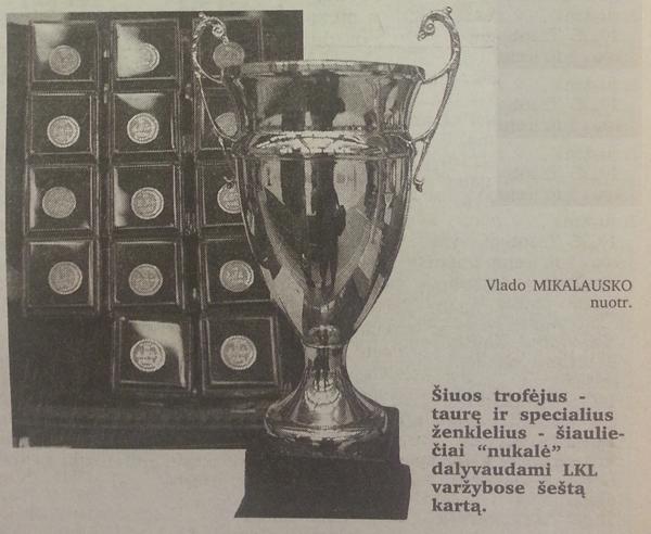 BC Šiauliai. 1999-2000 m. Pirmieji komandos bronziniai trofėjai LKL - ženkleliai ir taurė