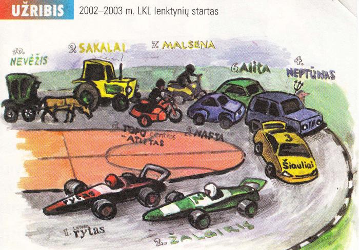 """BC Šiauliai. Prieš 2002-2003 m. sezono startą """"Šiaulių"""" komanda įvardinama kaip trečioji LKL komanda"""