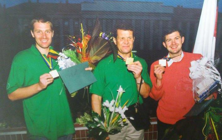 BC Šiauliai. 2003 m. Europos krepšinio čempionai - M.Žukauskas, A.Sireika ir D.Slanina