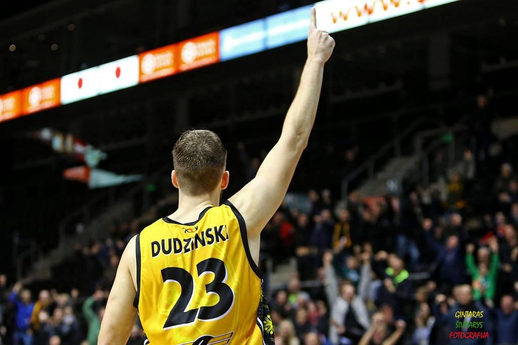 "BC Šiauliai. 2015-2016 m. D.Dudzinski: ""Finger of God"""
