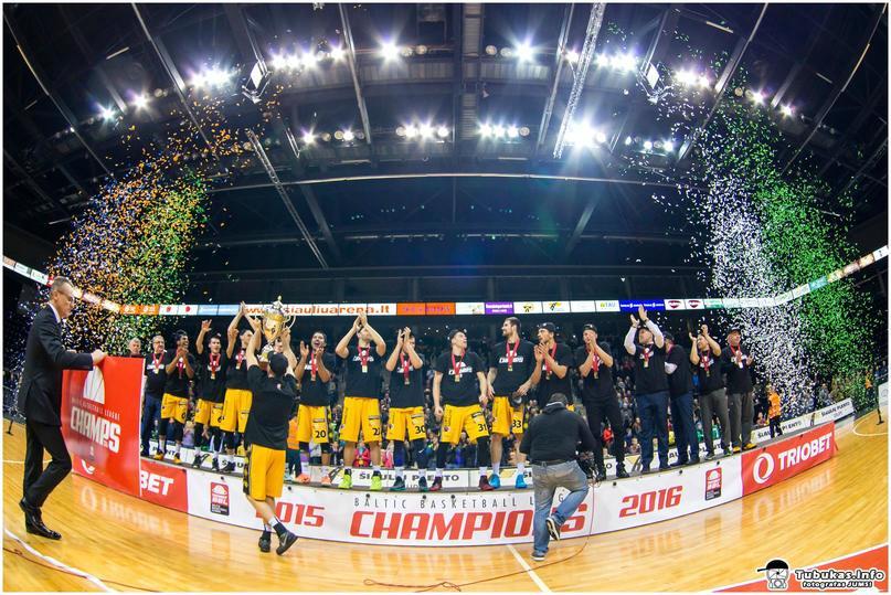 BC Šiauliai. 2015-2016 m. Baltijos krepšinio lygos čempionai.